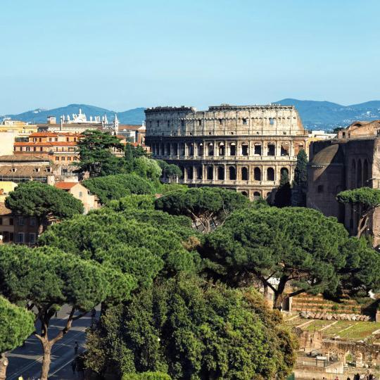 שקיעות מרהיבות מגבעת הפאלאטיום של רומא