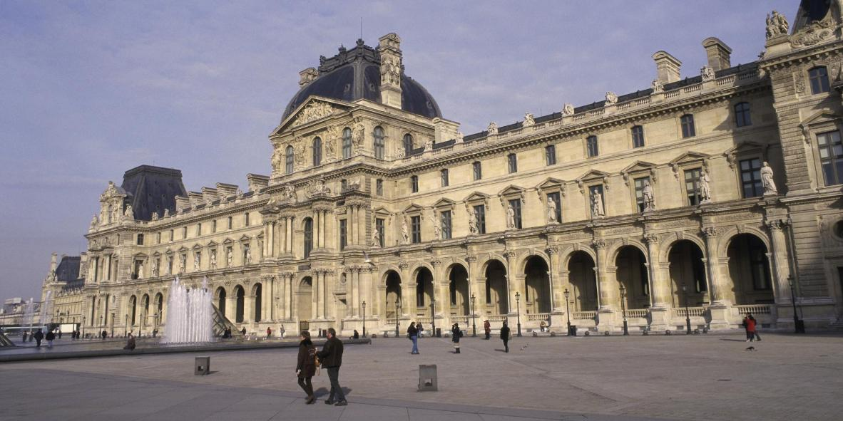 The Louvre museum and area