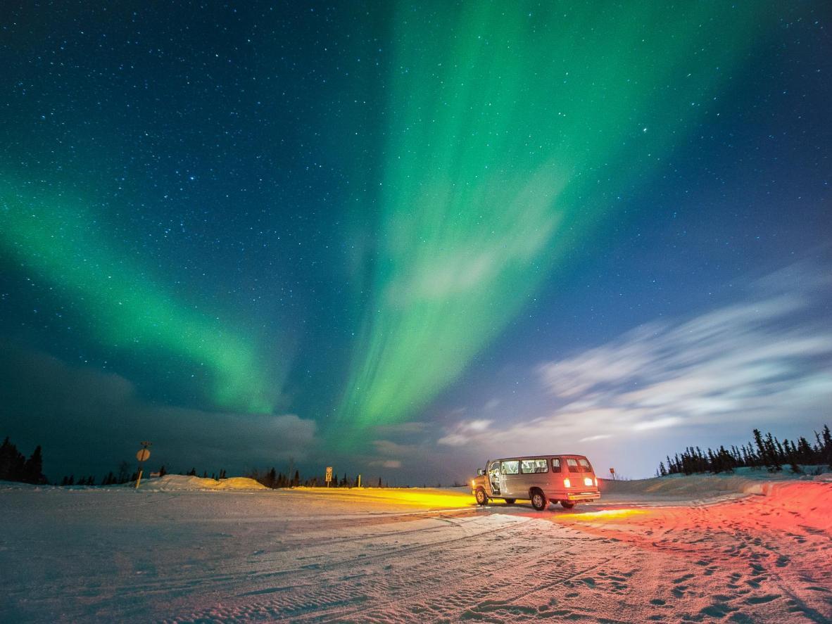 Admirar a Aurora Boreal é quase uma garantia em Fairbanks