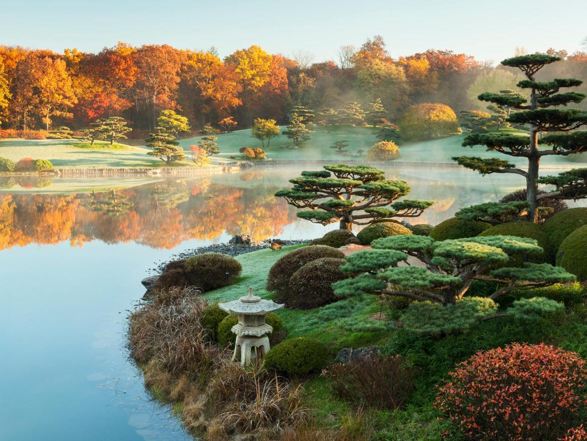O Jardim Japonês se estende por 3 ilhas separadas