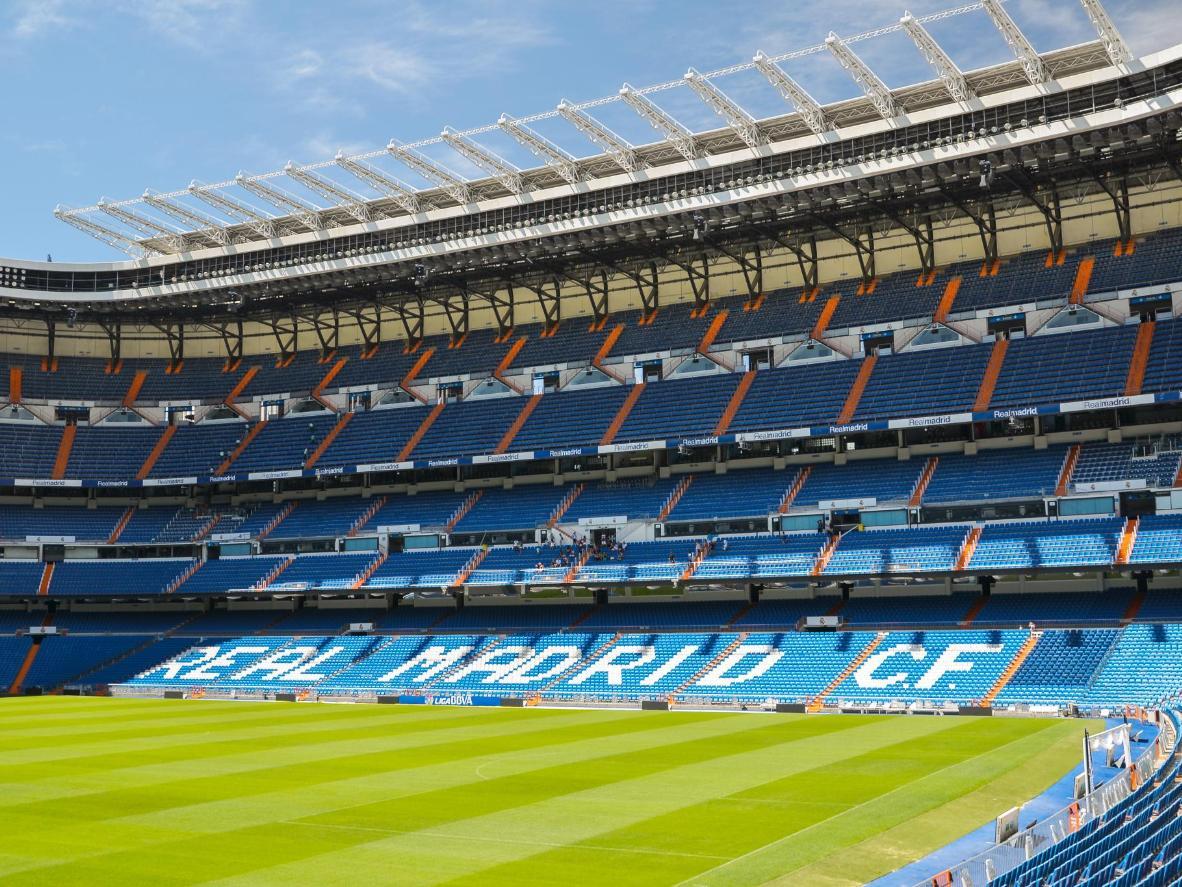 O Estádio Santiago Bernabéu, casa do Real Madrid desde 1947