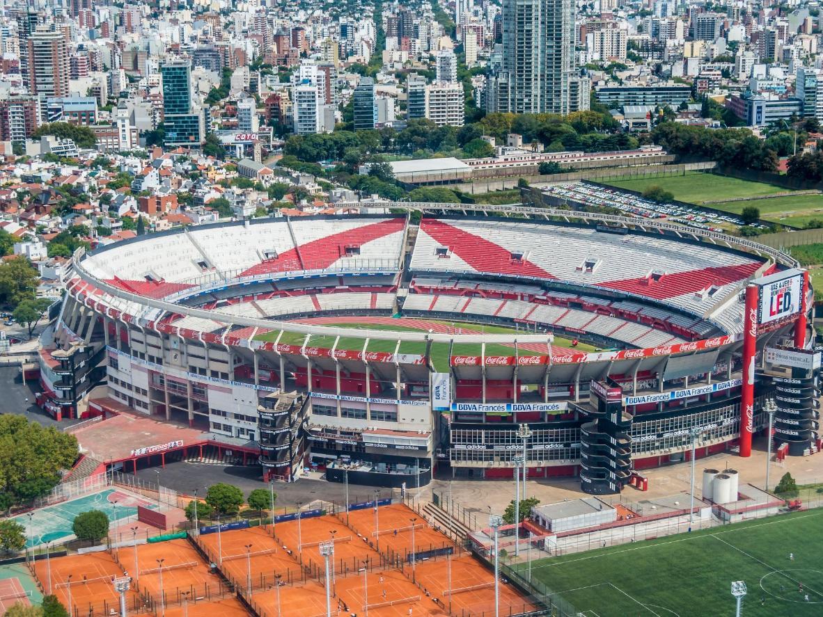Vista de cima do Estádio Monumental Antonio Vespucio Liberti, casa do River Plate