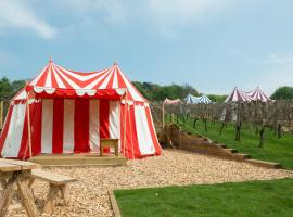 Knights Glamping at Leeds Castle, Leeds