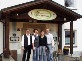 Gasthof Pension Waldfrieden, Brand