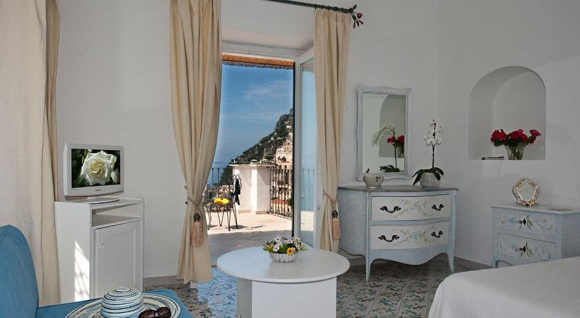 Room with a view of then coast at Hotel Villa Rosa, Positano. (Photo by Villa Rosa)