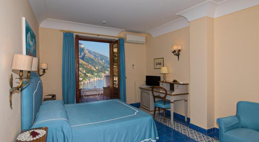 Room and view at the the Hotel Casa Albertina, Positano. (Photo by Casa Albertina)