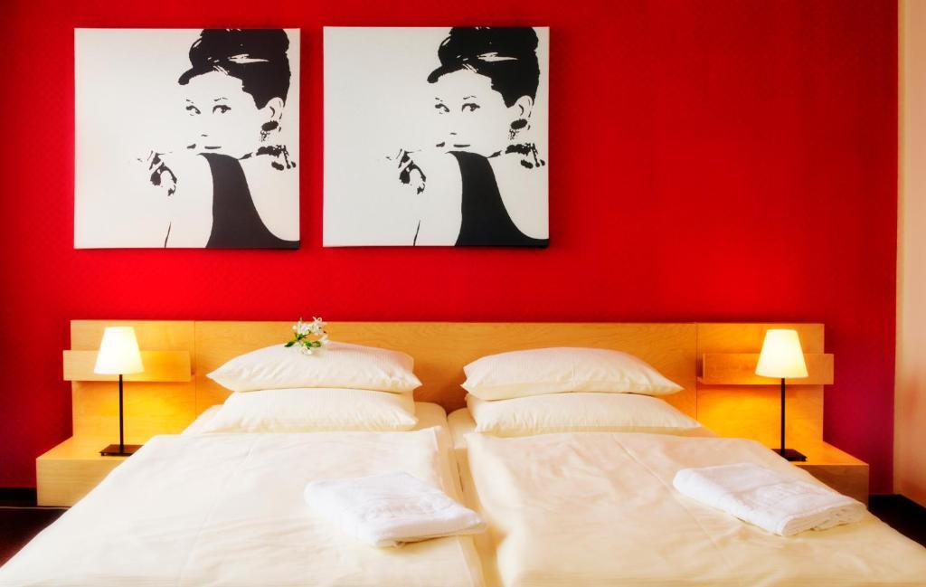 Cama ou camas em um quarto em Cityherberge