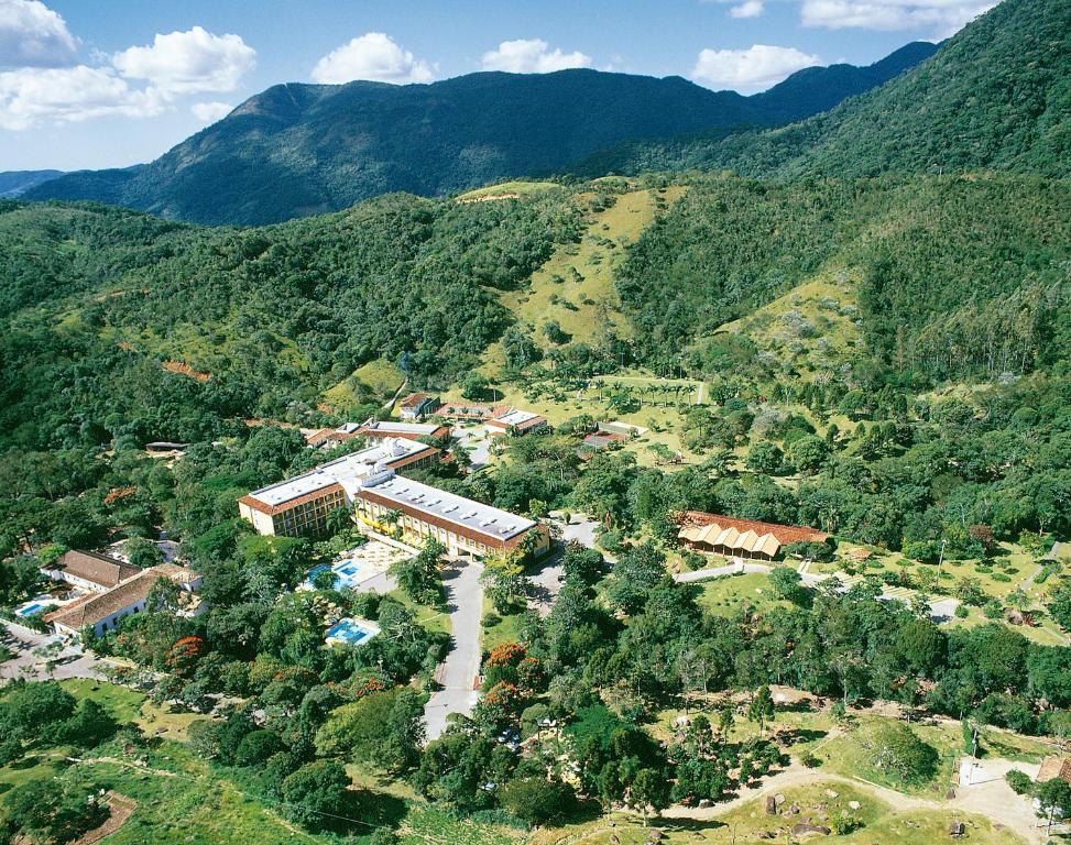 Uma vista aérea de Plaza Caldas da Imperatriz Resort & Spa
