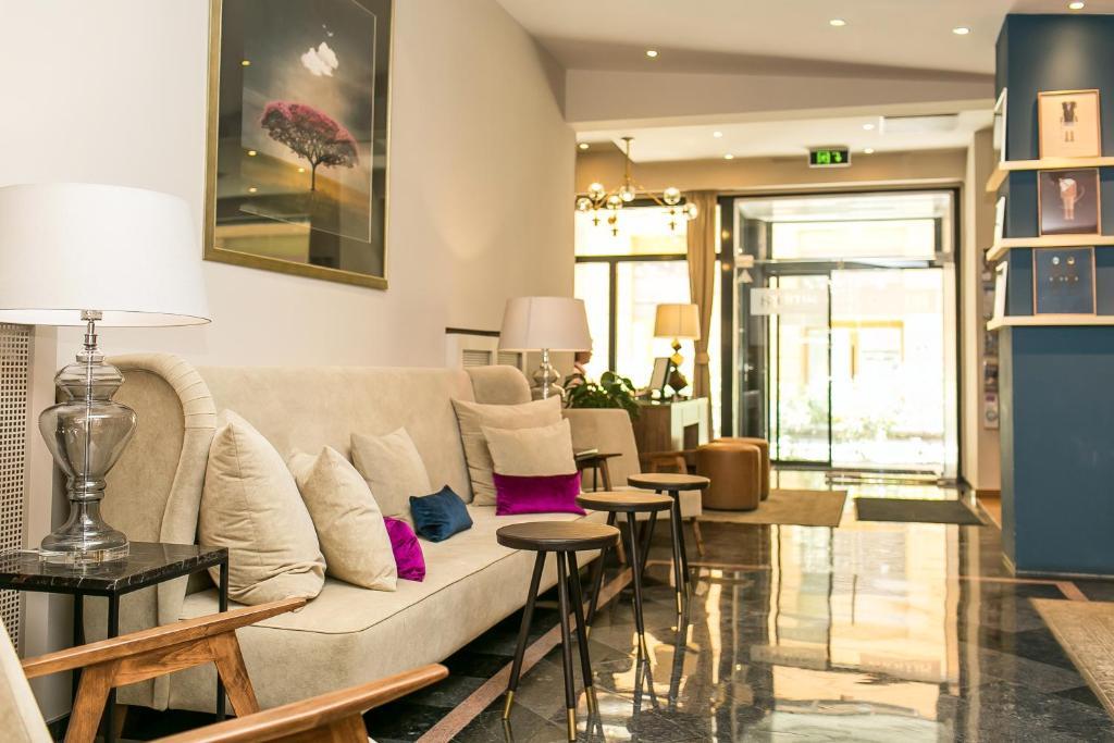 Un lugar para sentarse en Ambra Hotel