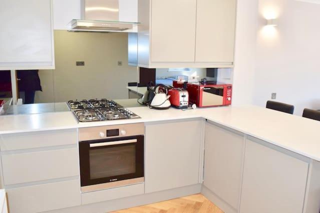 מטבח או מטבחון ב-Large, Bright & Modern Apartment (HA4)