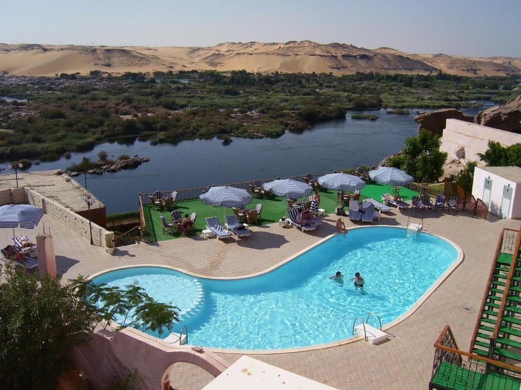 منظر المسبح في Sara Hotel Aswan او بالجوار