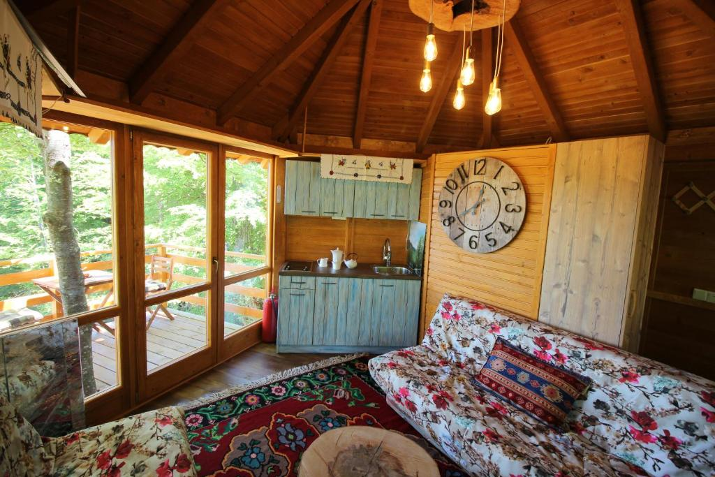 אזור ישיבה ב-Mountain Wood Apartments Sarajevo