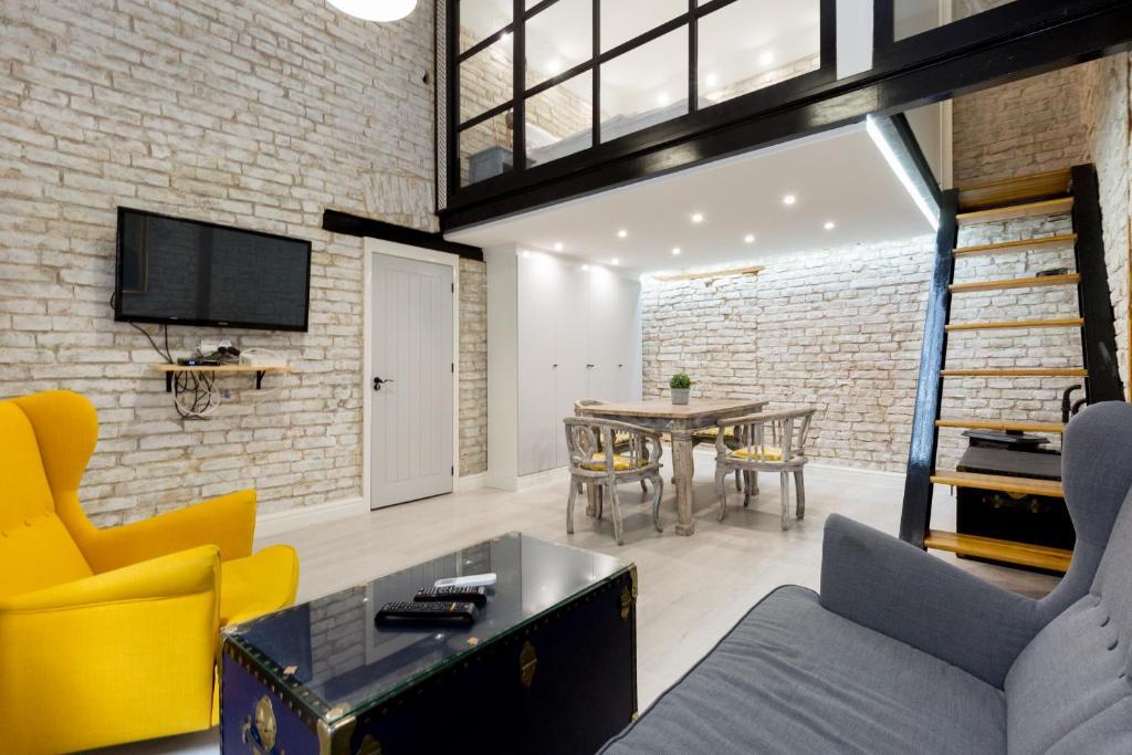 منطقة جلوس في The Vintage Apartment