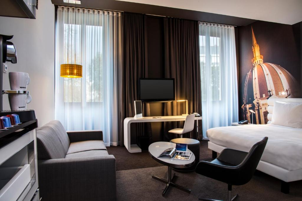 Quarto do Radisson BLU Hotel Nantes
