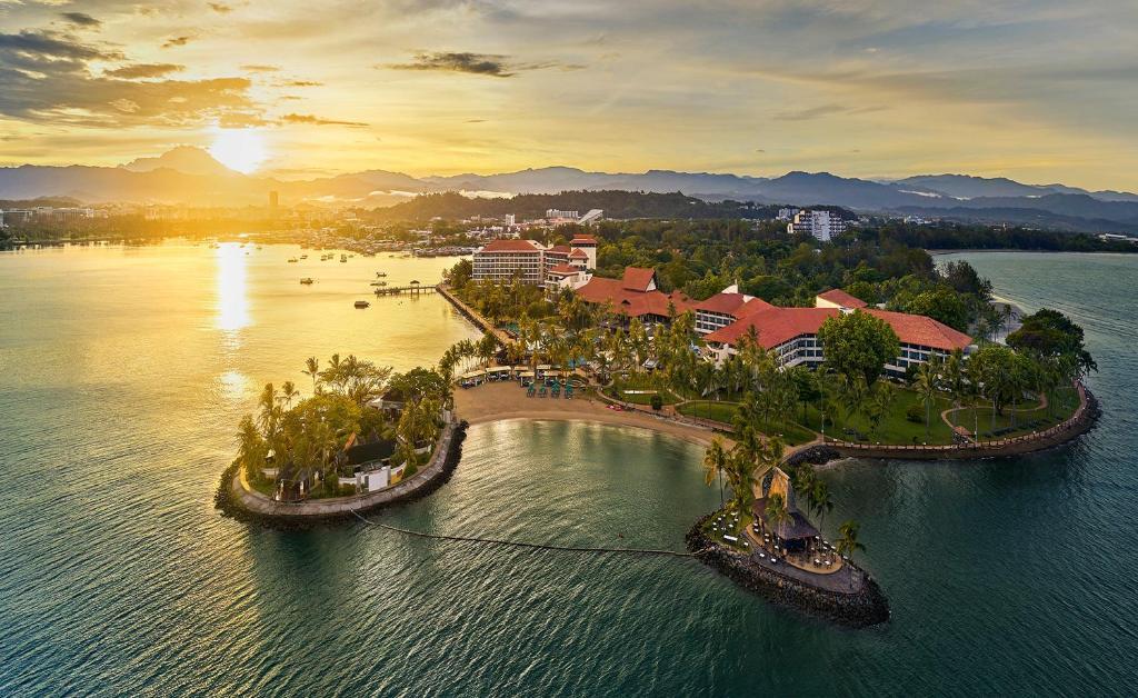 מבט מלמעלה על Shangri-La's Tanjung Aru Resort & Spa