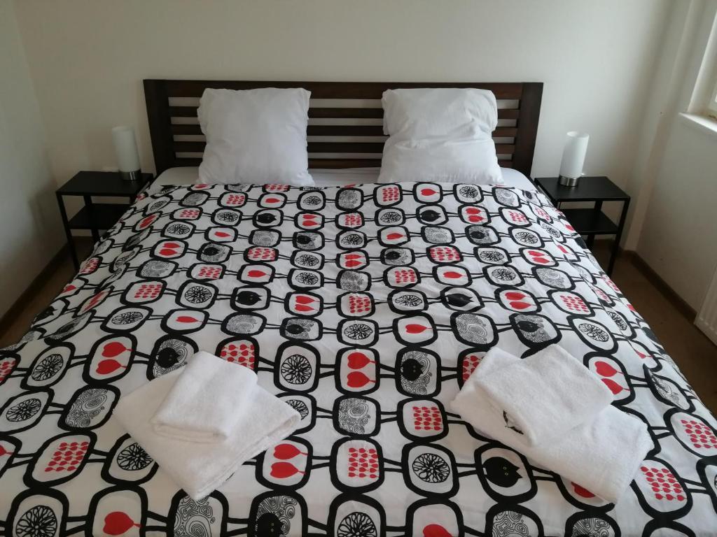 Cama ou camas em um quarto em Křižíkova 65 Stay