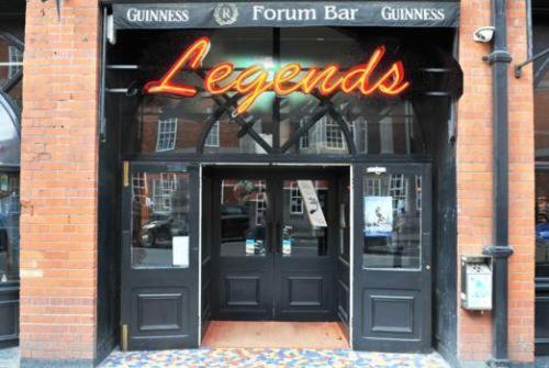 The Legends Bar at Parliament Hotel in Dublin Ireland