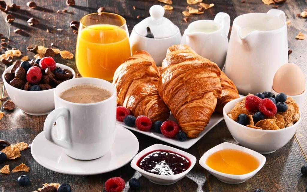 Opciones de desayuno para los huéspedes de Hotel Mezzo Pozzo