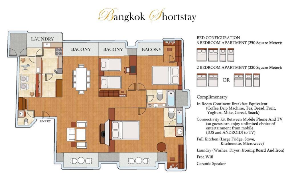 a350aa251 الشقق بانكوك شورت ستاي، غرفتي نوم - 3 غرف نوم سوكومفيت (تايلاند ...