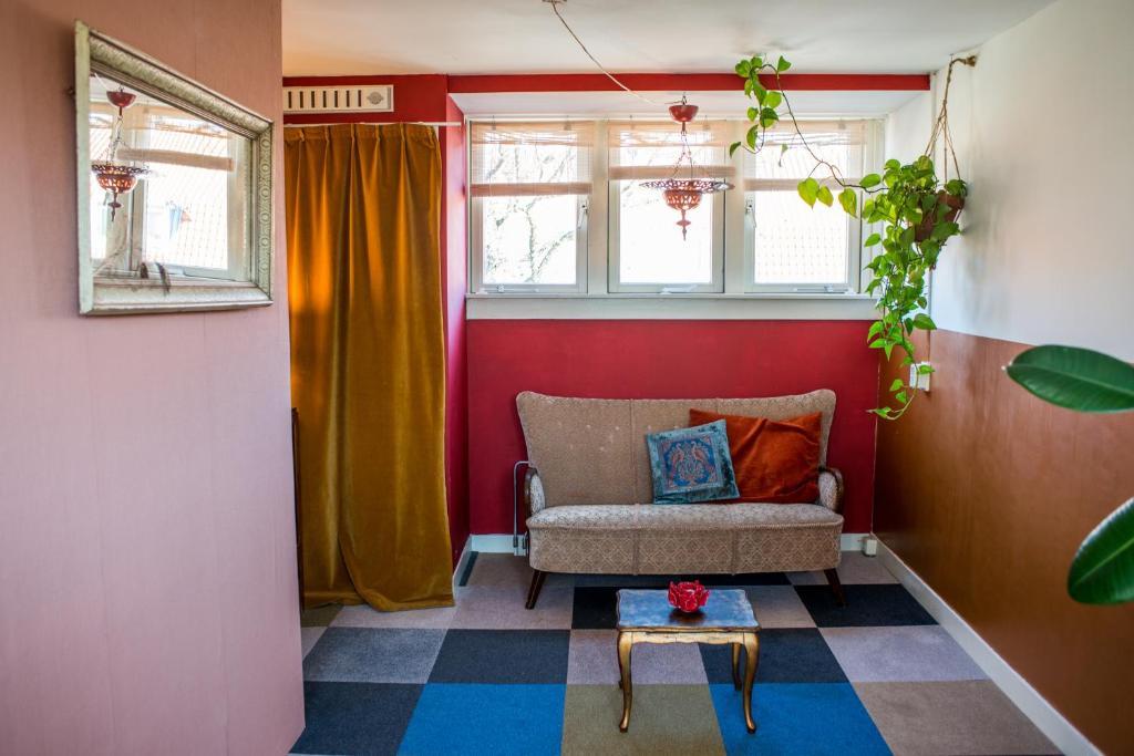 Uma área de estar em Cosy Studio Amsterdam North