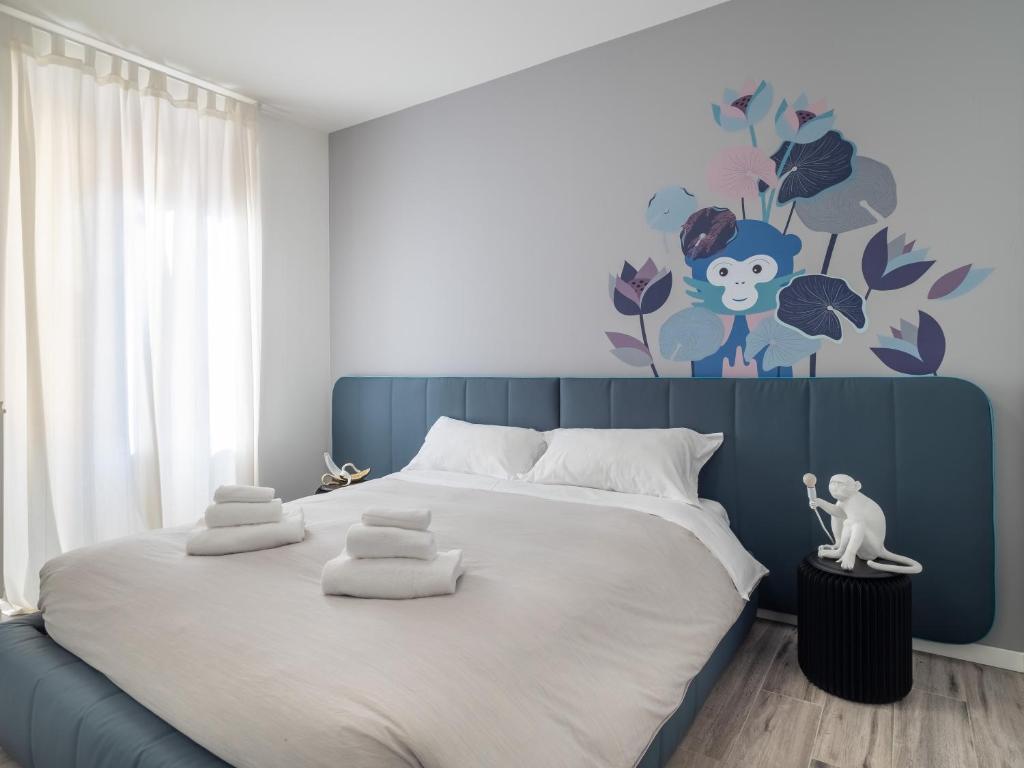Cama ou camas em um quarto em Alla Casa Di Giò Rooms