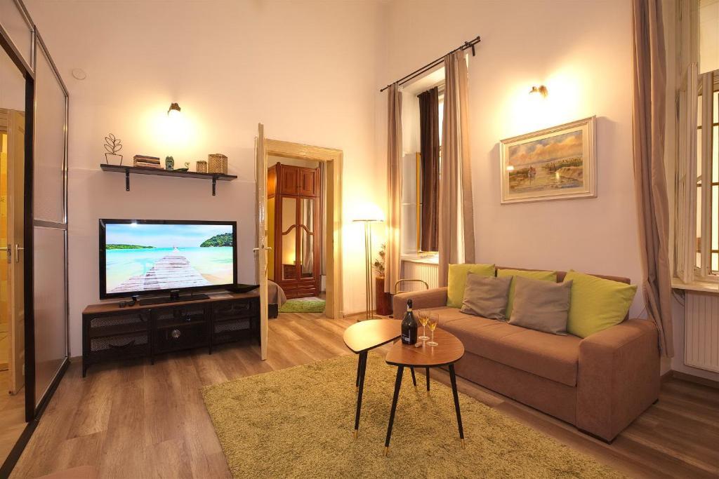 TV/trung tâm giải trí tại Kahwa Apartments
