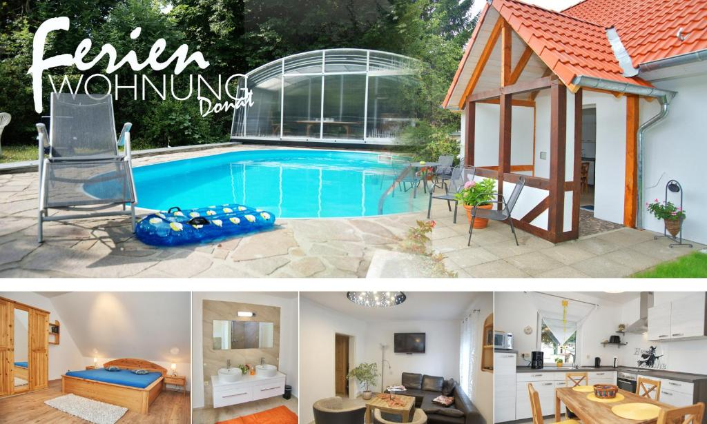 ferienhaus gr ne oase mit pool deutschland wernigerode. Black Bedroom Furniture Sets. Home Design Ideas