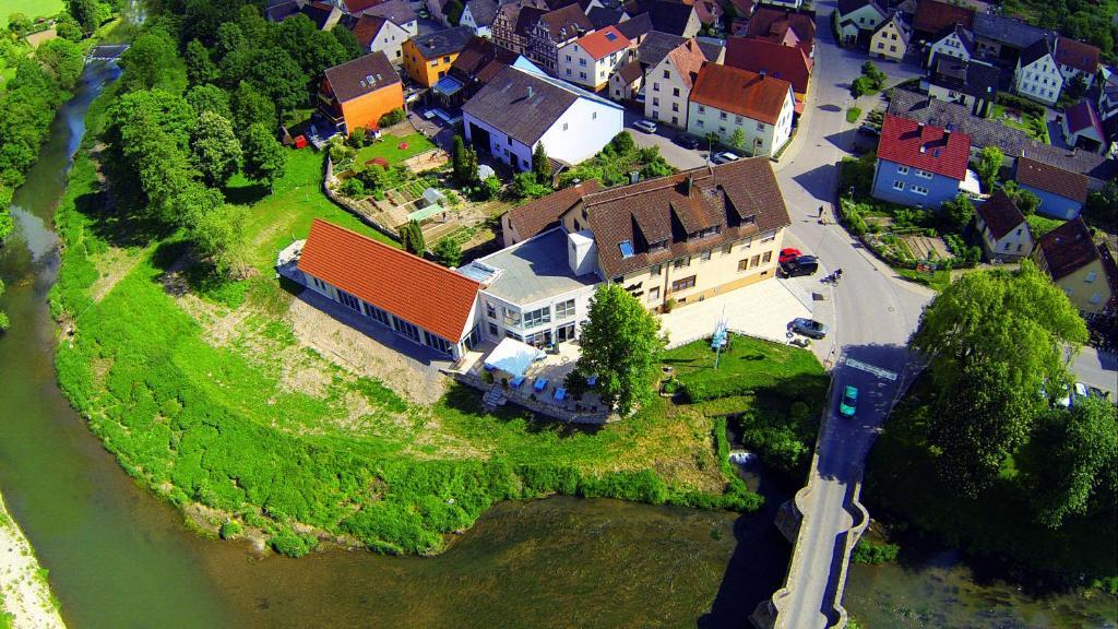 Una vista aérea de Landgasthof zum Hirschen