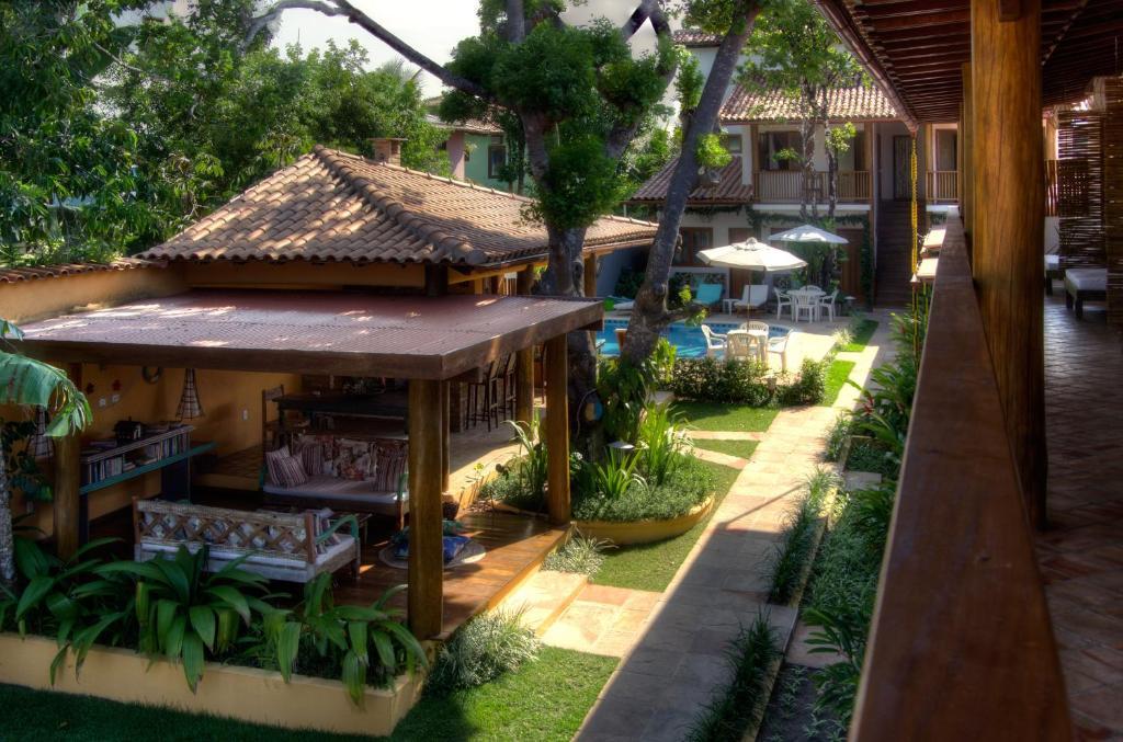 Uma varanda ou outra área externa em Pousada Maria Pitanga