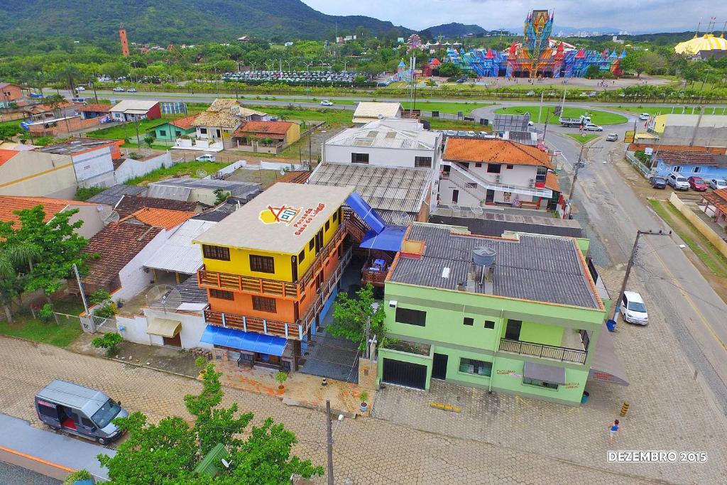 Una vista aérea de Pousada Casa do Luiggi