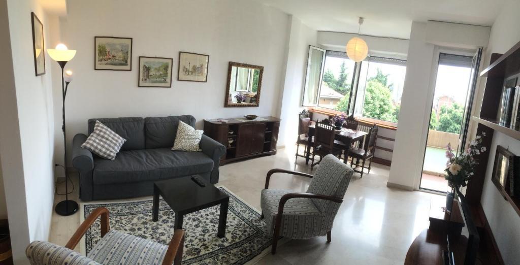 אזור ישיבה ב-Casa Carozzi