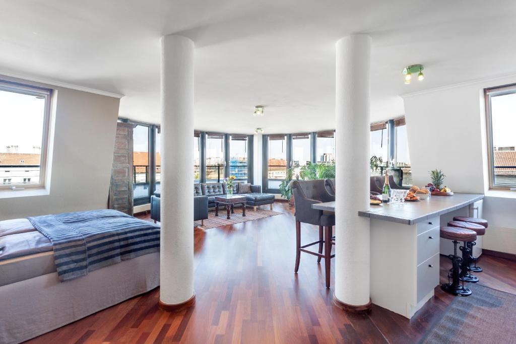 المنظر العام من الشقة