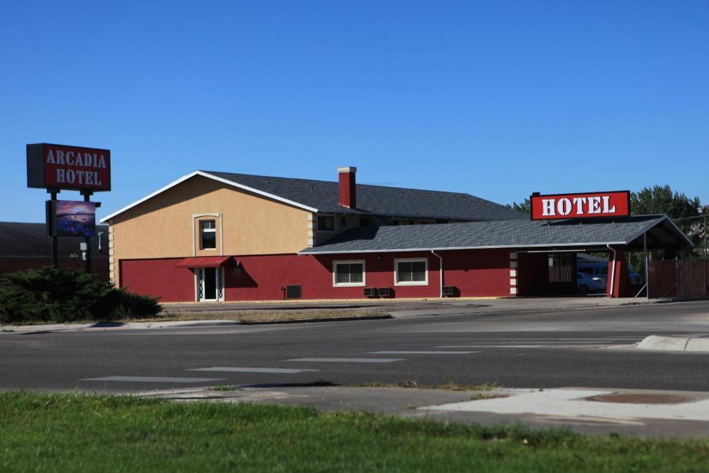 El edificio en el que está El motel
