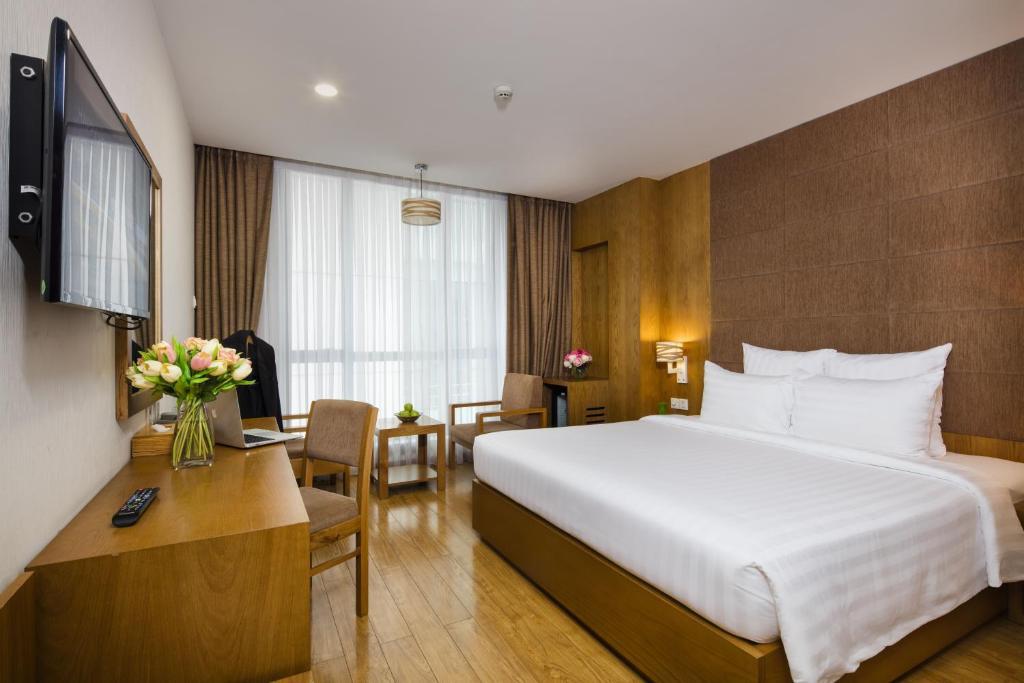 Phòng Premium Giường Đôi Với Tầm Nhìn Ra Thành Phố Và Vòi Sen
