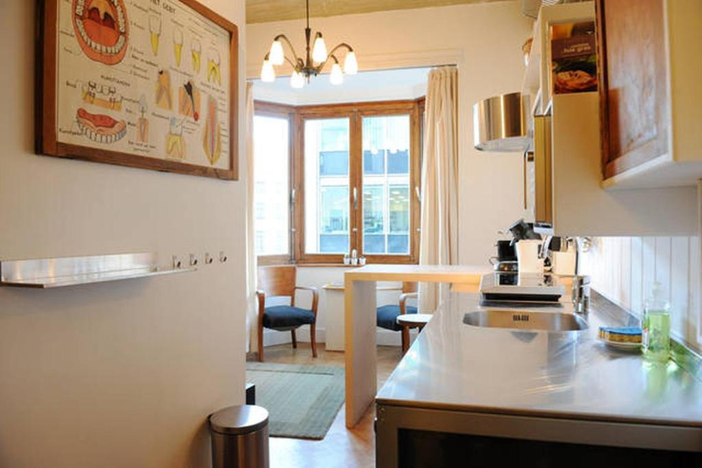 A cozinha ou cozinha compacta de Exquisite Stay In Brussels