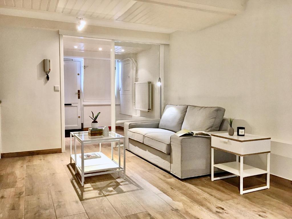 the basement apartment. Black Bedroom Furniture Sets. Home Design Ideas