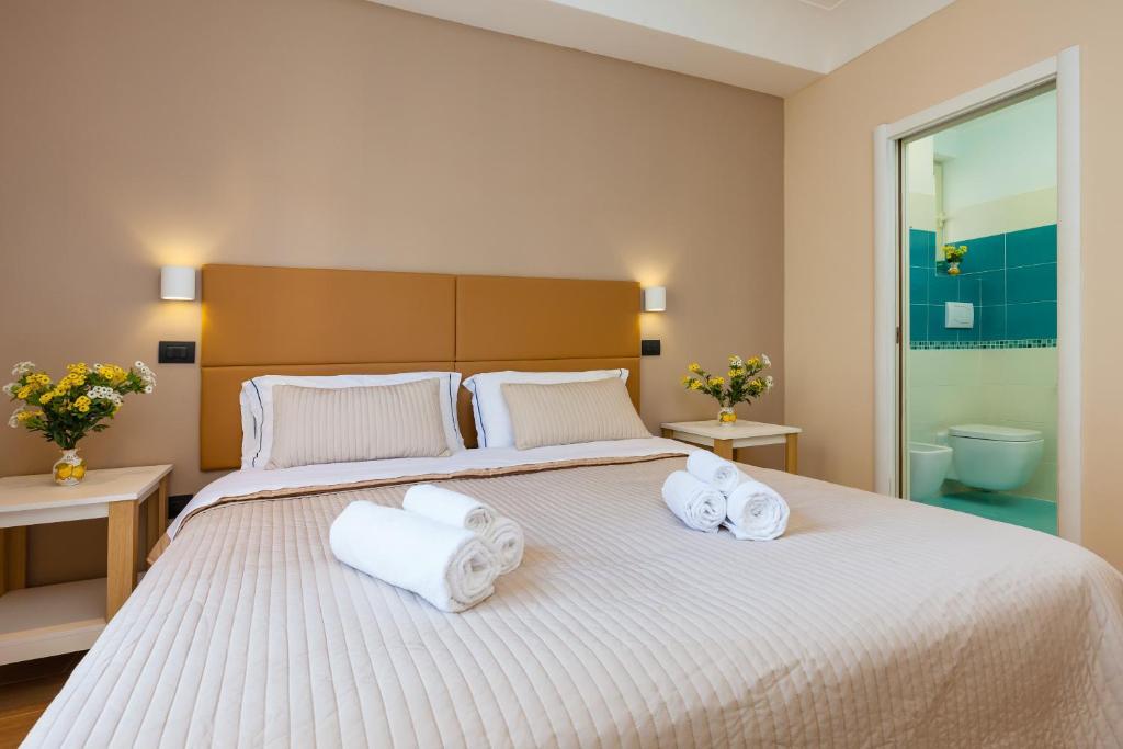 Cama ou camas em um quarto em B&B Giacomino