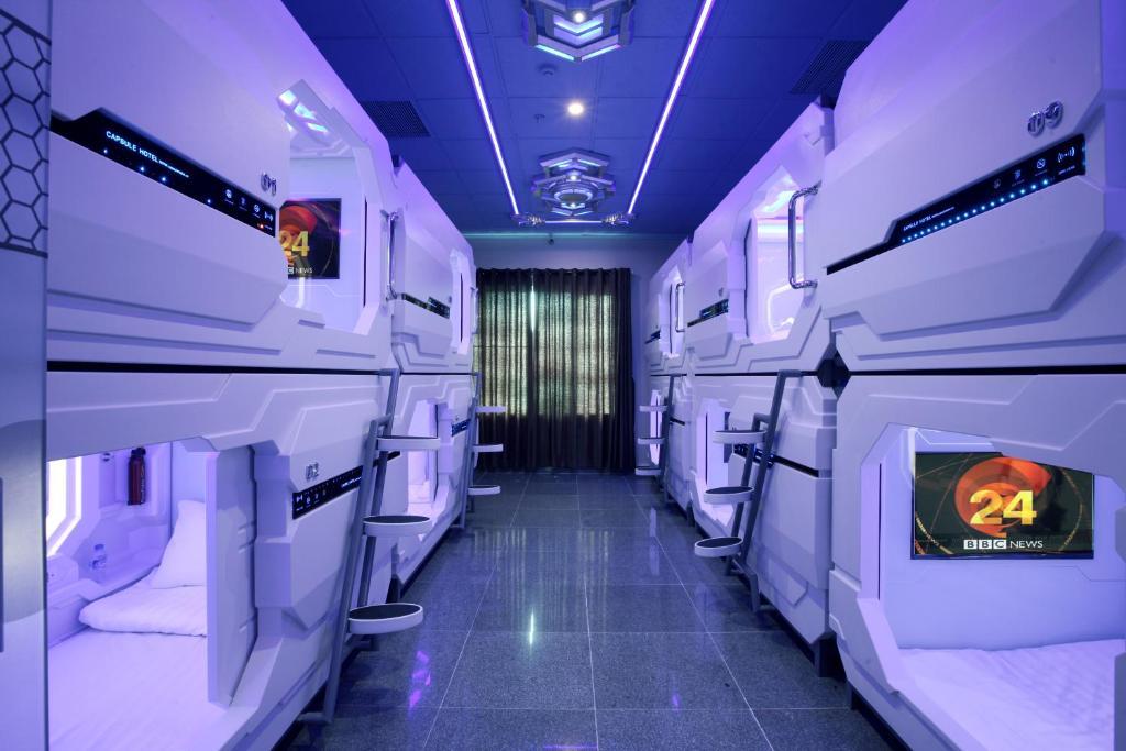 Khoang (Ngủ) Luxury Cho Cả Nam Và Nữ Đi Kèm Phòng Tắm Chung - Miễn Phí Phòng Xông Hơi Khô & Phòng Xông Hơi Ướt