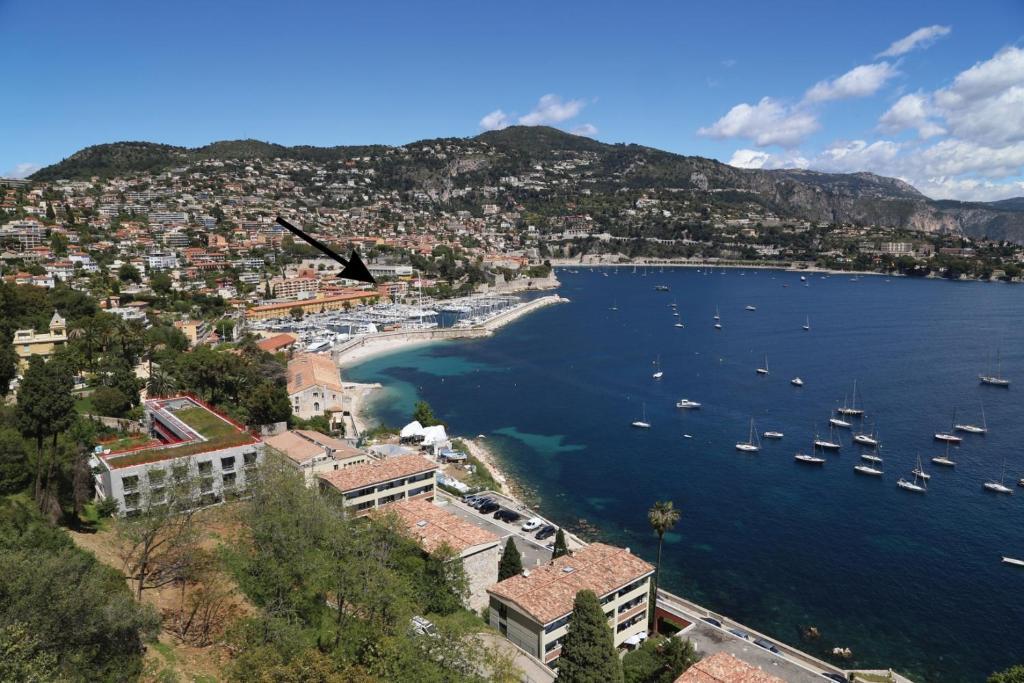 מבט מלמעלה על Hotel De La Darse