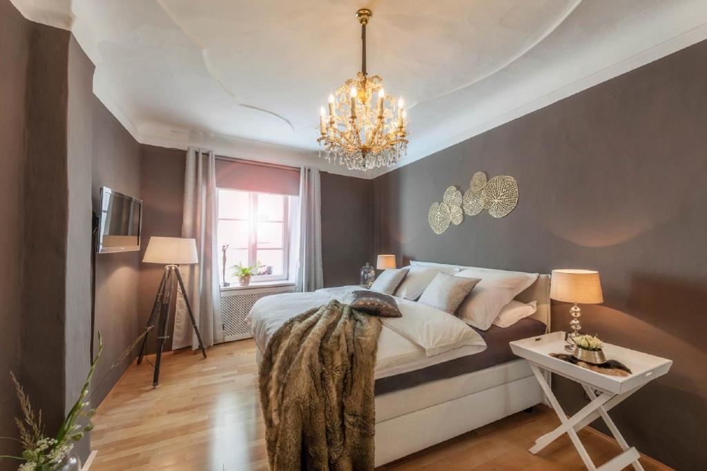 Cama ou camas em um quarto em PASSAU mittendrin