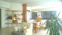 A room in a spacious apartment
