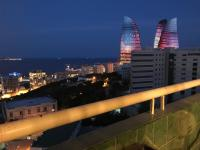 near Flame Towers with seaview of Baku