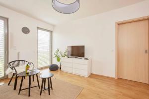 Uma TV ou centro de entretenimento em Modern Apartment