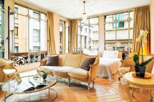 אזור ישיבה ב-Glamour Apartments
