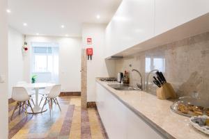 מטבח או מטבחון ב-Cruz Apartments