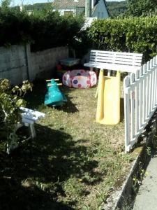 Zona de juegos para niños en La Crielloise