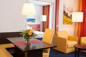 منطقة جلوس في فندق وشقة Stay2Munich المخدومة