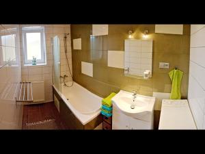 Um banheiro em Apartment Pod Sychrovem