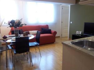 אזור ישיבה ב-Apartamentos APR Alcalá