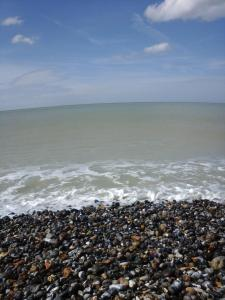 Uma praia perto da casa de temporada